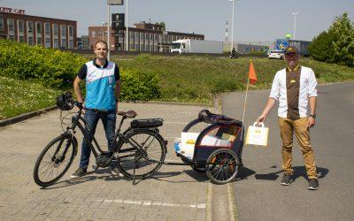 Panos en Decathlon Schelle slaan de handen in elkaar en voorzien de Rupelstreek van thuislevering met de fiets